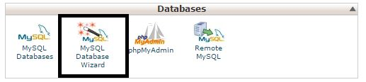Create database wtih mysql databae wizard
