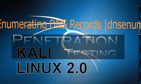 Enumerating DNS Records through dnsenum tool in Kali Linux