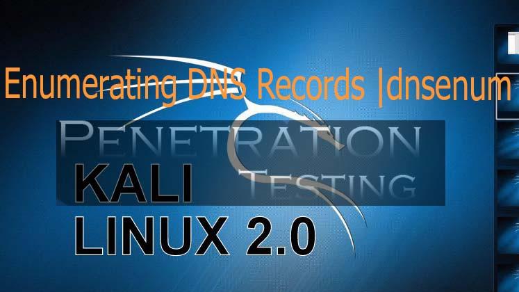 Enumerating DNS Records through dnsenum tool in Kali Linux