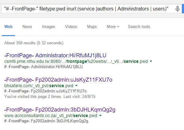 Google Hacking | Open Web Information Gathering