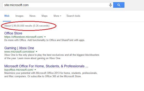google hacking site microsoft