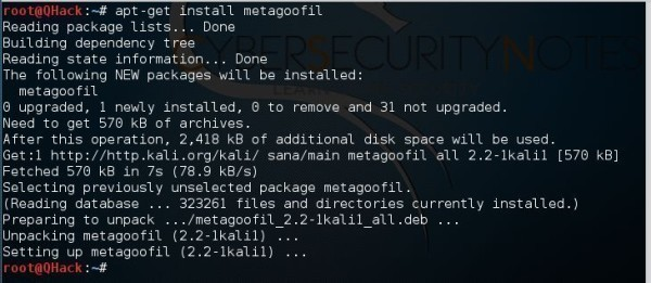 Search Senstive Data through Metagoofil Kali Linux 2 0