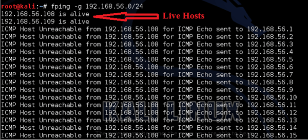 fping a ping Linux program