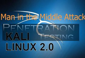 kali linux man in the middle attack tutorial step by step