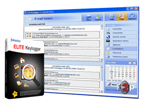 Keystroke logging with elite keylogger
