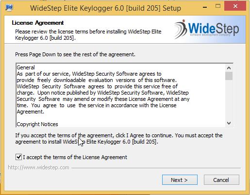 installing elite keylogger