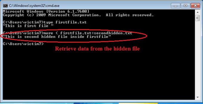 retreieving data from hidden file
