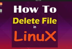 How to Delete File in Linux by using command and GUI