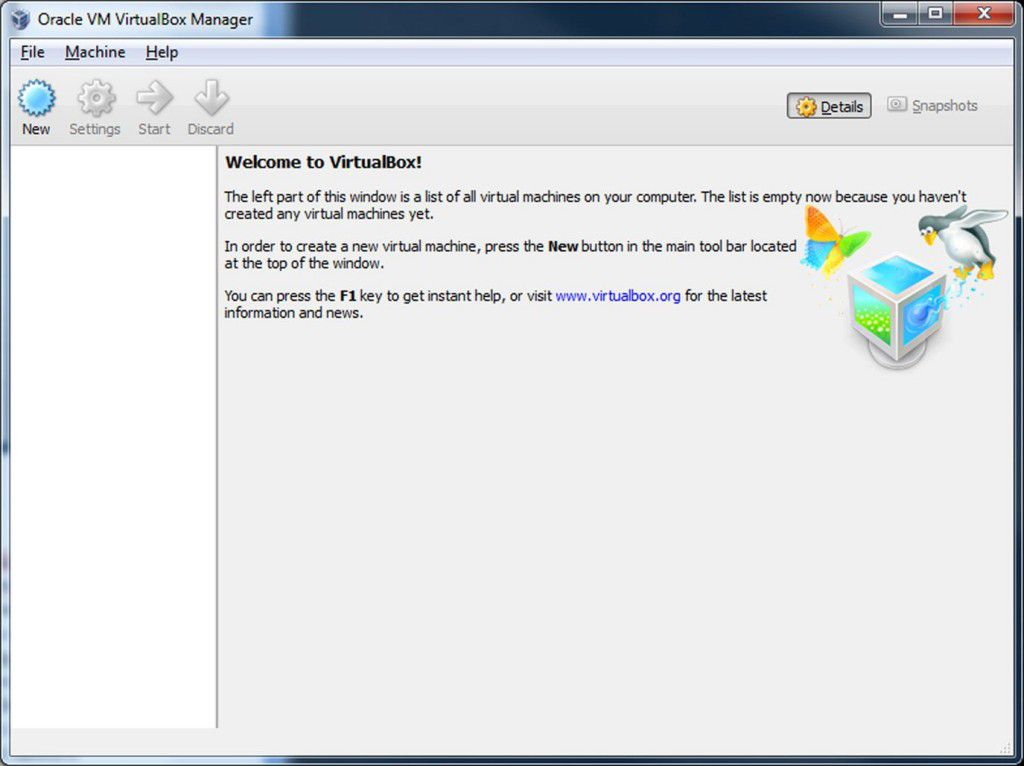 Installation Virtual Box on Window 8