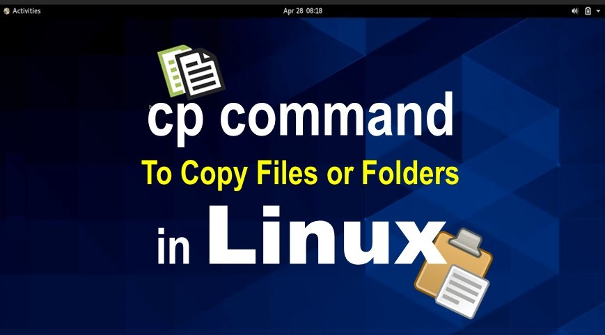 cp command to copy a file in linux
