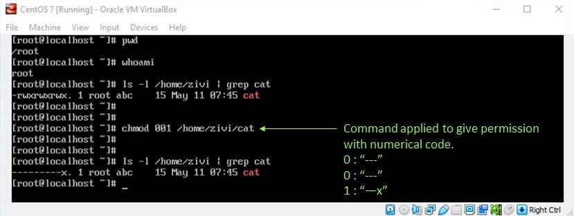 Linux File Permission - Change Permission with Numeric Value