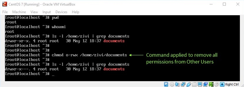 Linux File Permission - Remove all Permissions from Other Users