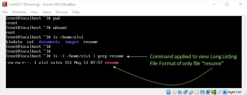 Linux File Permission - View File Permission for Specific File
