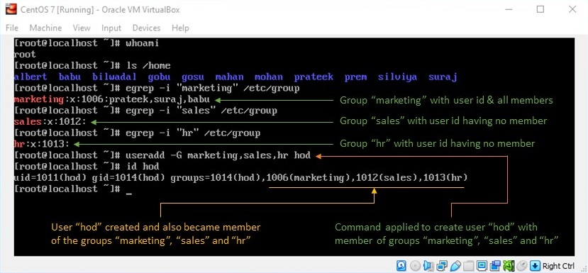 adduser Command in Linux - Creating User and Assigning a Member of a Group