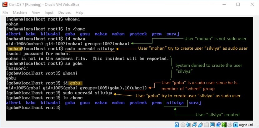 adduser Command in Linux - Creating User by Sudo User